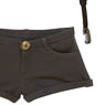AZO2 Short Pants with Suspender (Brown) (Fashion Doll)