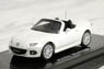 1/64 Mazda Roadster RS (2013) (Crystal White Pearl Mica) (Diecast Car)