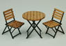 1/24 Iron Garden Table & Chair (Craft Kit) (Accessory)