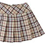 PNS Side Button Pleats Skirt (Beige Check) (Fashion Doll)