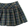 PNS Side Button Pleats Skirt (Green Check) (Fashion Doll)