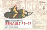 Renault FT-17 Light Tank (Cast Turret) (2 Kit) (Pla...
