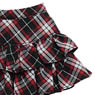 PNS Furifuri Tiered skirt (Black x Red Plaid) (Fashion Doll)