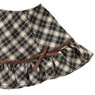 Komorebimori no Oyofukuyasan [PNS Ribbon Ruffle skirt] (Brown x Beige Plaid) (Fashion Doll)