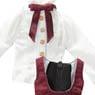 PNM ELLEN`S CLOSET Jumper Skirt Set (Bordeaux) (Fashion Doll)