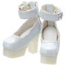 BlackRavenClothing Strappy Shoes (White) (Fashion Doll)