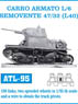 CARRO ARMATO L/6 SEMOVENTE 47/32 (L40) Metal Tracks (Plastic model)