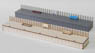 HO Scale Size `Wooden Kit` Eco Platform 40 (One Side Type) Intermediate Extension Unassembled Kit (Unassembled Kit) (Model Train)