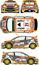 Ford Fiesta RS WRC 2015 Monte Carlo Rally Car No.21 (Decal)