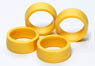 Low Profile Offset Tread Tires (Hard/Yellow) (Mini 4WD)
