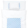 1/6 Pastel Dot Futon Set (Pillow/Duvet/Mattress Set) (White x Blue) (Fashion Doll)