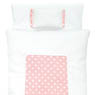 1/6 Pastel Dot Futon Set (Pillow/Duvet/Mattress Set) (White x Pink) (Fashion Doll)