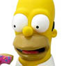 the Simpsons/ Homer Simpson with Donut Bust Bank (Completed)
