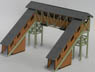 HO Scale Size `Wooden Kit` Overpass (Unassembled Kit) (Model Train)