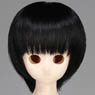 50cm Wig New Short Hair 7-8inch (Black) (Fashion Doll)