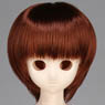 50cm Wig New Short Hair 7-8inch (Red Brown) (Fashion Doll)