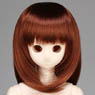 50cm Wig New Shoulder Length Hair 7-8inch (Red Brown) (Fashion Doll)
