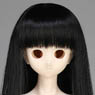 50cm Wig New Long Hair 7-8inch (Black) (Fashion Doll)