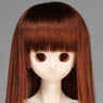 50cm Wig New Long Hair 7-8inch (Red Brown) (Fashion Doll)