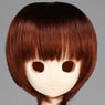 50cm Wig New Short Hair 8-9inch (Red Brown) (Fashion Doll)