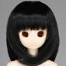 50cm Wig New Shoulder Length Hair 8-9inch (Black) (Fashion Doll)
