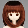 50cm Wig New Shoulder Length Hair 8-9inch (Red Brown) (Fashion Doll)