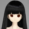 50cm Wig New Long Hair 8-9inch (Black) (Fashion Doll)