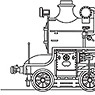 J.N.R. Steam Locomotive Type C51 #248/171 (`Tsubame` Custom) (Unassembled Kit) (Model Train)