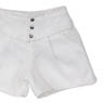 PNS 3 Button Culottes Pants (White) (Fashion Doll)