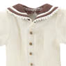 PNXS Boys Gymnasium Clothes Set (Off White x Brown) (Fashion Doll)