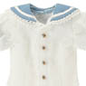 PNXS Boys Gymnasium Clothes Set (White x Blue) (Fashion Doll)
