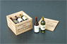 1/12 Wine Bottle & Wooden Box (Craft Kit) (Fashion Doll)