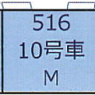(HO) [10] Type 516 (M) (J.R. Series 500, Car Nos.10) (1-Car) (Pre-colored Completed) (Model Train)