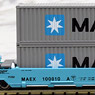 Gonderson MAXI-I Double Stack Car MAERSK #100010 with MAERSK Containers (5-Car Set) (Model Train)