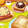 Petit Sample Everyday Toast Mascot 6 pieces (Shokugan)