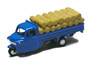 Three-wheeler Load Type w/Straw Rice Bag (Blue) (Model Train)
