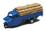 Three-wheeler Load Type w/Grain Storage Bag (Blue) (Model Train)