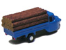 Three-wheeler Load Type w/Lumber (Blue) (Model Train)