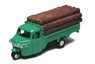 Three-wheeler Load Type w/Lumber (Green) (Model Train)