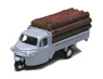 Three-wheeler Load Type w/Lumber (Gray) (Model Train)