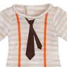 PNS Necktie & Suspender Cutsew (Beige Boader) (Fashion Doll)