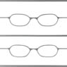 Etching Glasses A set (Same Color 2pcs) Silver (Fashion Doll)