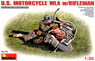 U.S. Motorcycle WLA w/Rifleman (Plastic model)