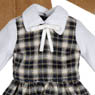 PNXS Little Autumn Girl Set (Biscuit Brown x Navy Check) (Fashion Doll)