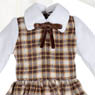 PNXS Little Autumn Girl Set (Milk White x Brown Check) (Fashion Doll)