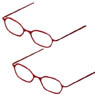 Etching Glasses (Without Lens) A Set (Red) (Fashion Doll)