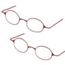 Etching Glasses (Without Lens) B Set (Red) (Fashion Doll)