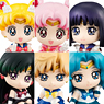 Petit Chara Land Sailor Moon Ice Cream Party 6 pieces (PVC Figure)