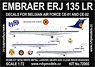 Embraer ERJ 135LR (Decals for Belgian Air Force CE-01 and CE-02) (Plastic model)