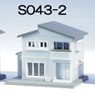 (Z) Z-Fookey Two-Storied House B Blue (Pre-colored Completed) (Model Train)